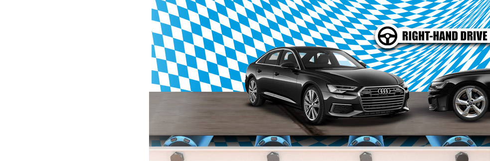 Endless Audis with right-hand drive cars