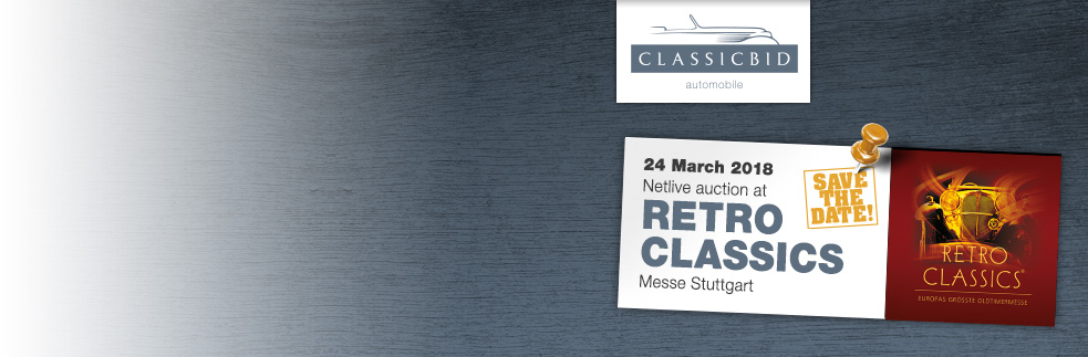Save the date: Classicbid auction  at RETRO CLASSICS®